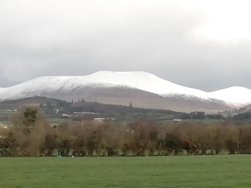 Snow capped mountains in Tipperary yesterday