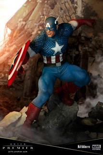自由的捍衛者!! 壽屋 ARTFX PREMIER 系列 Marvel Universe【美國隊長】キャプテン・アメリカ 1/10 比例PVC塗裝完成品