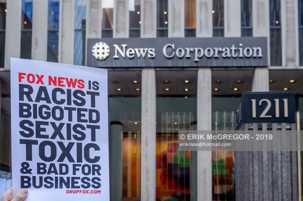NYC Activists tell advertisers to drop Fox News
