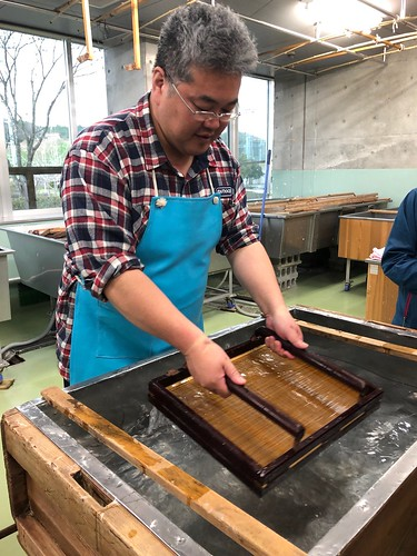 Paper making at Miho Misumi