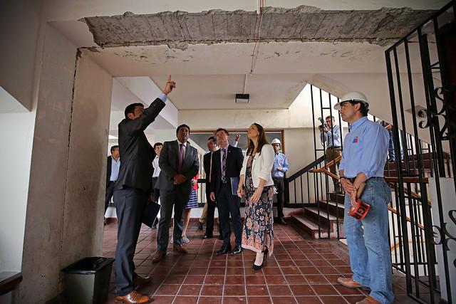 Subsecretario Salaberry inspecciona edificios afectados por el sismo del pasado 19 de enero - La Serena | 24.01.19
