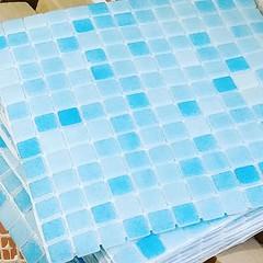niebla piscina para la cocina :blue_heart: blue tiles for accent in the new kitchen :grinning: kleine blaue Fliesen als Akzent in der neuen Küche; der Name der Farbwahl lässt @DoSchu immer an den Hot Water Pool in Neuseeland denken :joy: ihr seht: Kontinu
