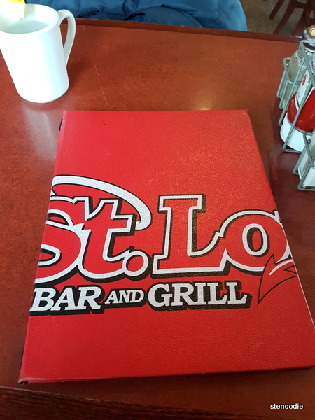 St. Louis Bar & Grill menu cover
