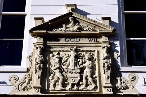 Leerdam, Utrecht, Kerkstraat 48, housefront, detail