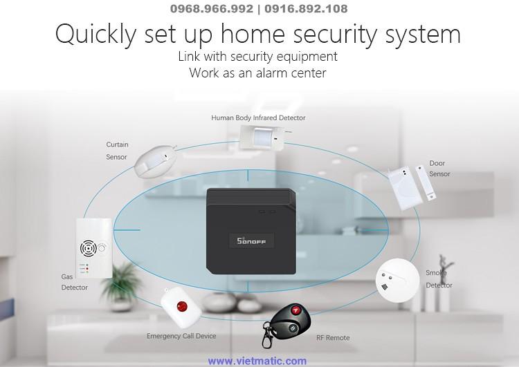 Có thể tích hợp thêm các thiết bị an ninh cho ngôi nhà nhanh chóng
