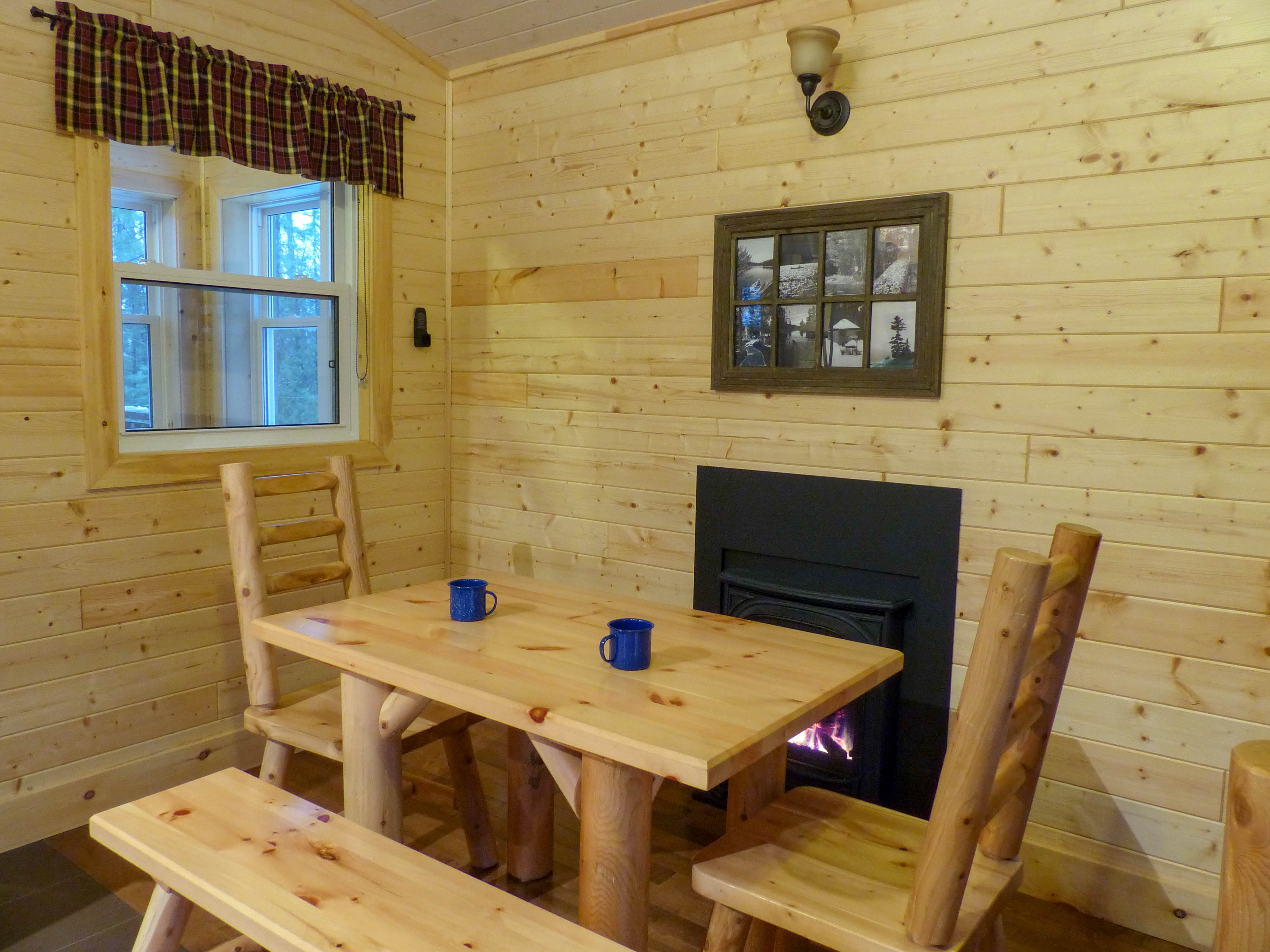 Silent Lake Provincial Park camp cabin interior