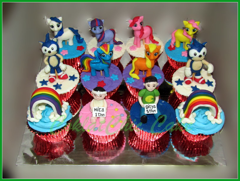 Cupcake set my little pony & sonic the hedgehog