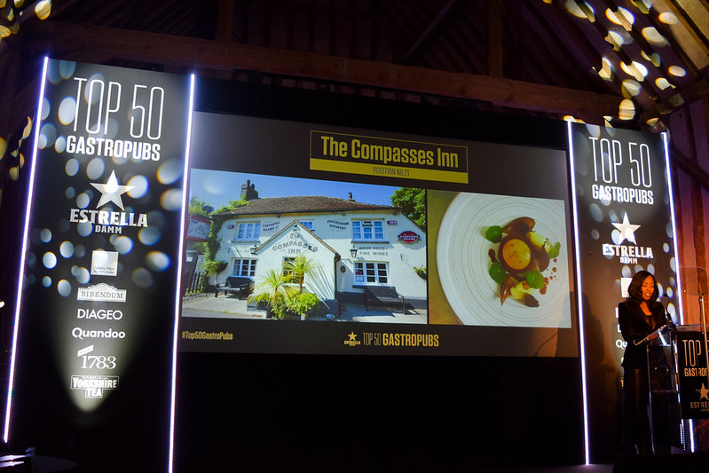 The Compasses Inn, Crundale at the Top 50 Gastropubs Awards 2019