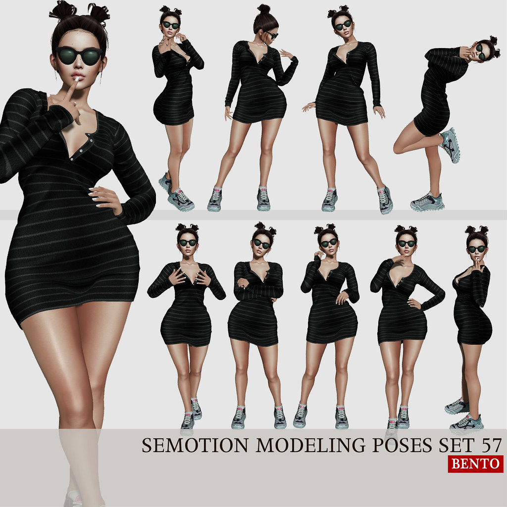 SEmotion Female Bento Modeling poses set 57