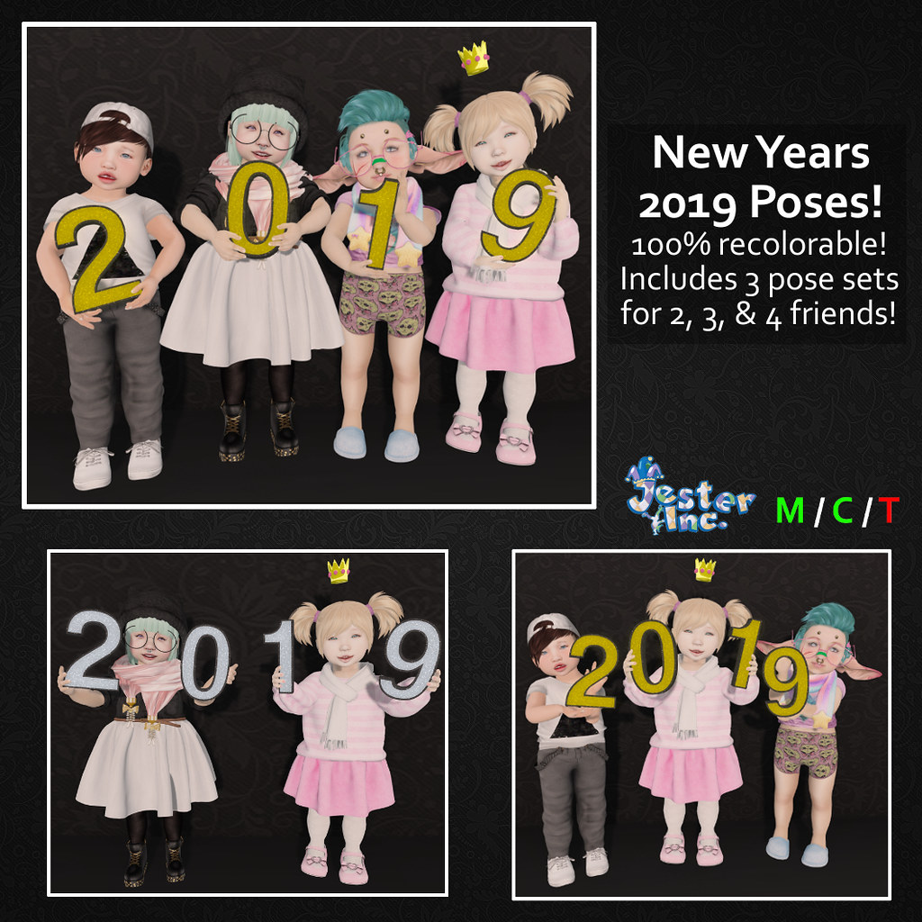 [Jester Inc.] New Years 2019 Pose Pack