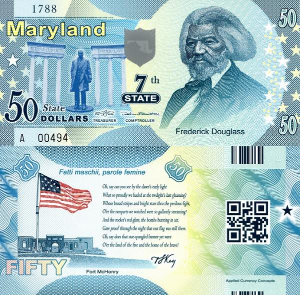 USA 50 Dollars 2014 7. štát - Maryland, polymer