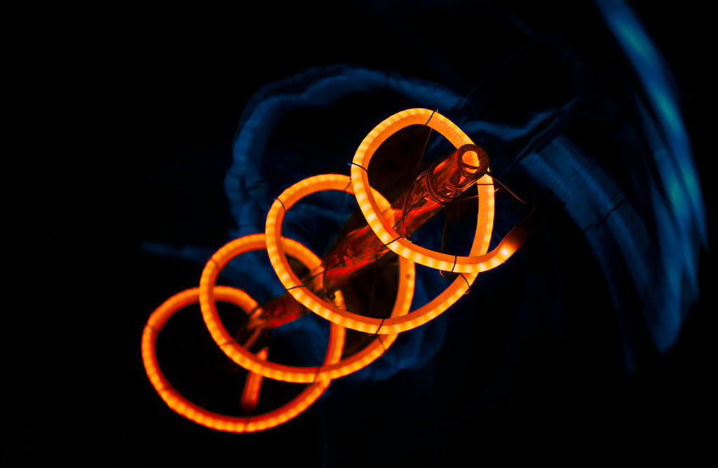 abstract macro light bulb filament