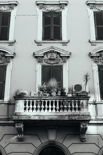 "Image titled ""Balcony, Rome. (B&W)"""