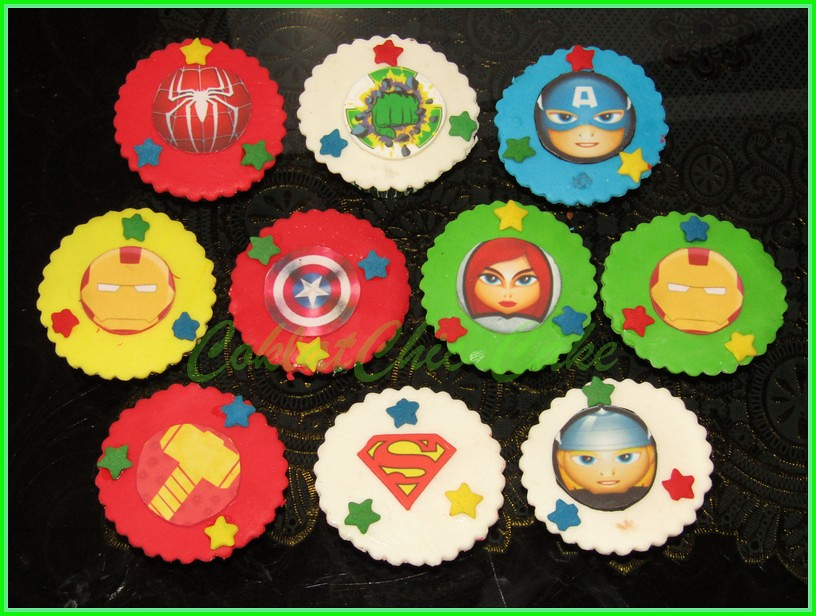 Cupcake edible the avengers