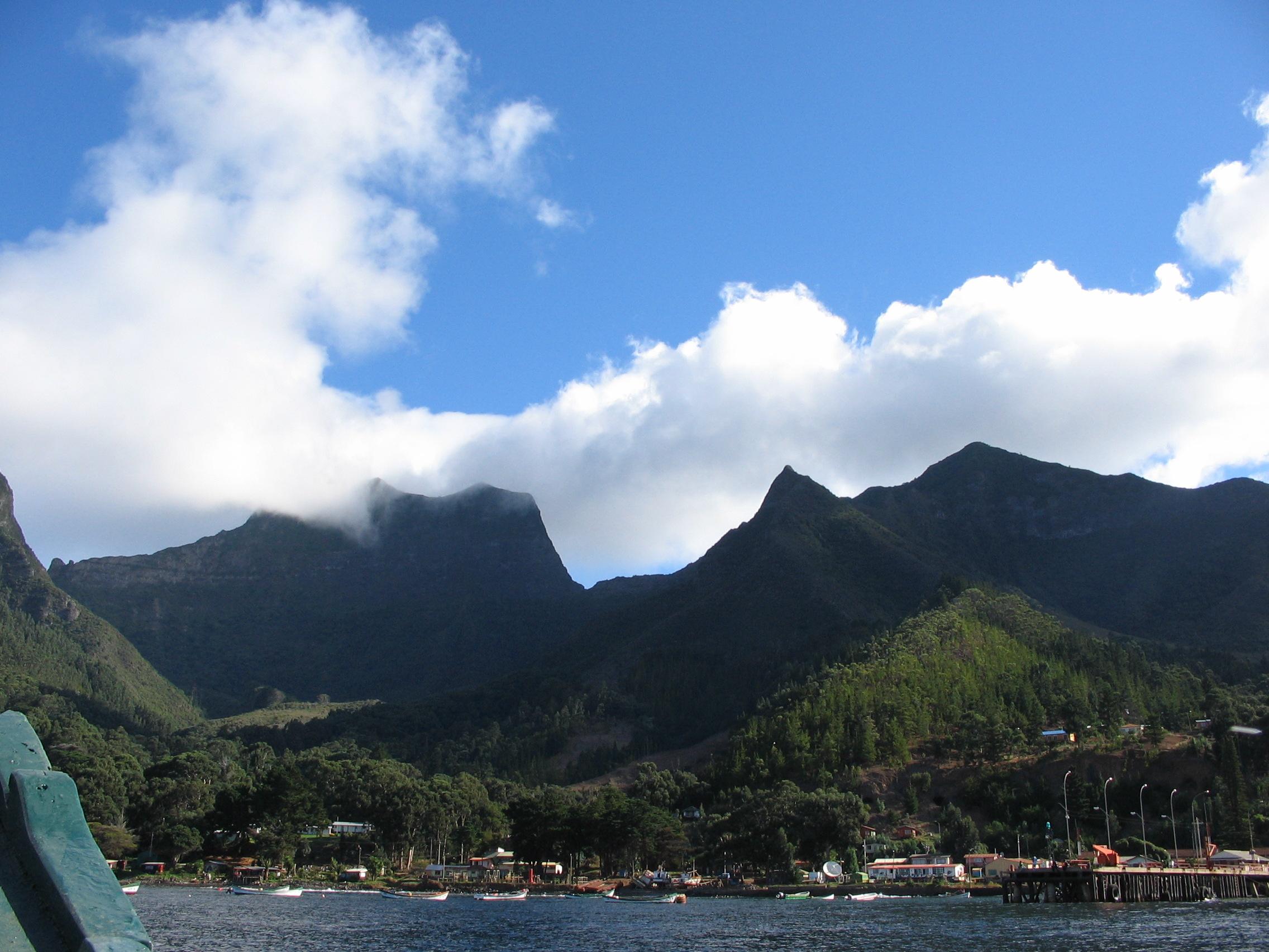 The town of San Juan Bautista on Robinson Crusoe Island, Chile. Photo taken on April 15, 2005.