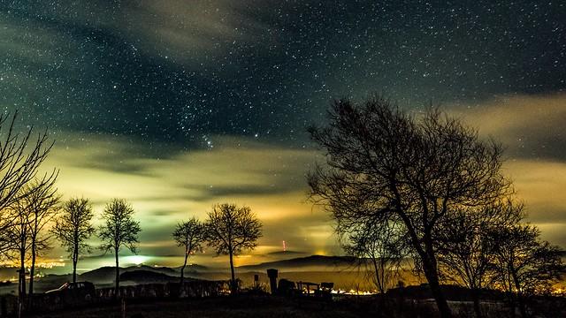 Orion am Nachthimmel bei Steffeln in der Vulkaneifel