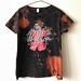 Women's Bleached and Shredded Panic at the Disco T Shirt X Large