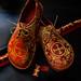 Greek Orthodox Ecclesiastcal Liturgical Vestment Brocade Shoes. 1. by Alan James Raddon