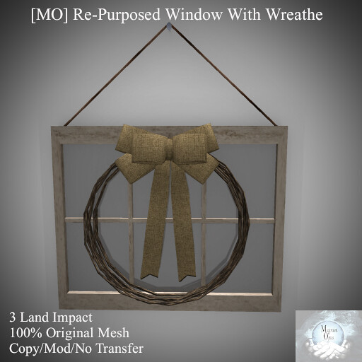 [MO] Re-Purposed Window With Wreathe
