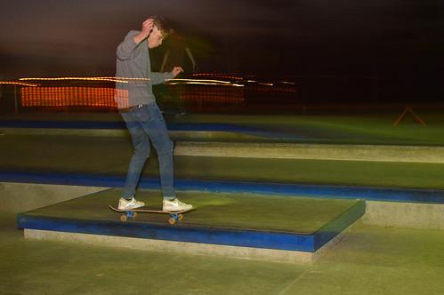 Skating through