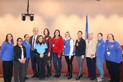 Rep. Cheeseman and Sen. Formica met with the Millstone Women in Nuclear (WIN) at the Legislative Office Building
