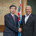 President Nakao meets Prime Minister of Fiji, visits Annual Meeting venues