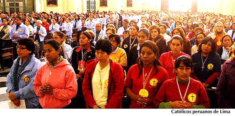 Católicos peruanos de Lima