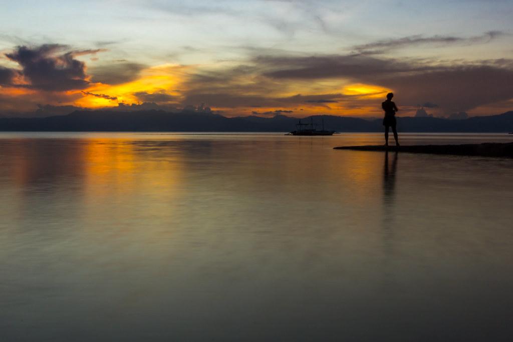 Beautiful sunset in Maboal
