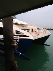 Taking the ferry from Tanah Merah (Singapore) to Bintan (Indonesia)