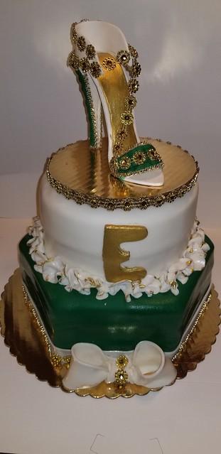 Bi-Dazzle Shoe Cake by Eunice Phanord Mathon of E&E Bakery