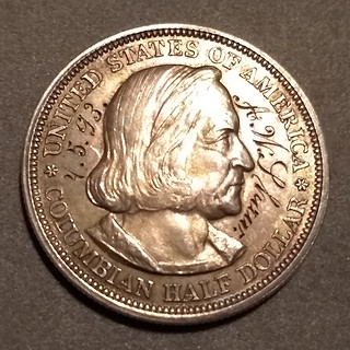 1893 Columbian expo Half Dollar engraved A.W. Shaw obverse