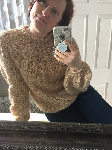 Christina's stunning Sunday Sweater by Petite Knits - knit with Berroco Brielle