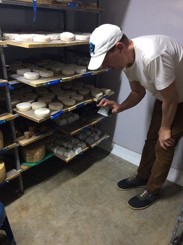 Taking a look inside the cheese cave at Quesos Monte Azul, Chimirol, Costa Rica
