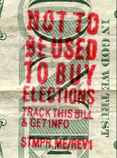 Not to Be Used to Buy Elections Overstamp
