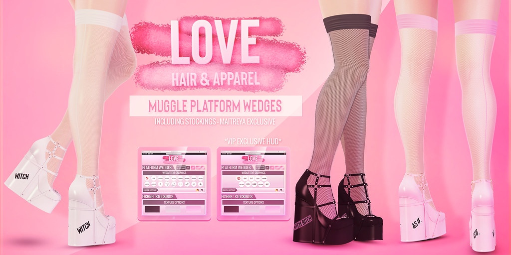 Love [Muggle Platform Wedges & Stockings v.2] - The Saturday Sale! - TeleportHub.com Live!