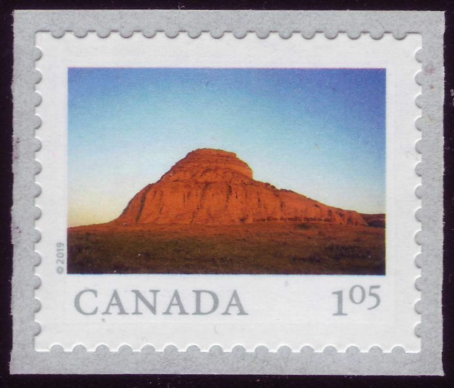 Canada - From Far and Wide (January 14, 2019) Castle Butte in Big Muddy Badlands, Saskatchewan ($1.05 domestic rate in coils of 50 only)