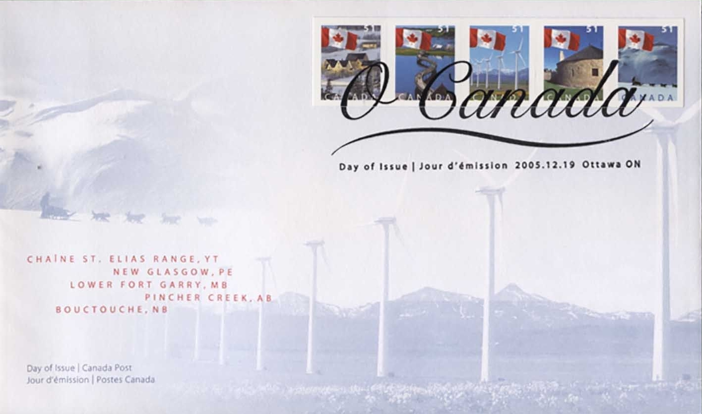 Canada - Scott #2135-2139 (2005) first day cover