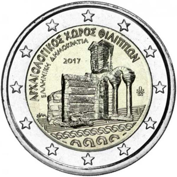 2 Euro Grécko 2017, Filippi