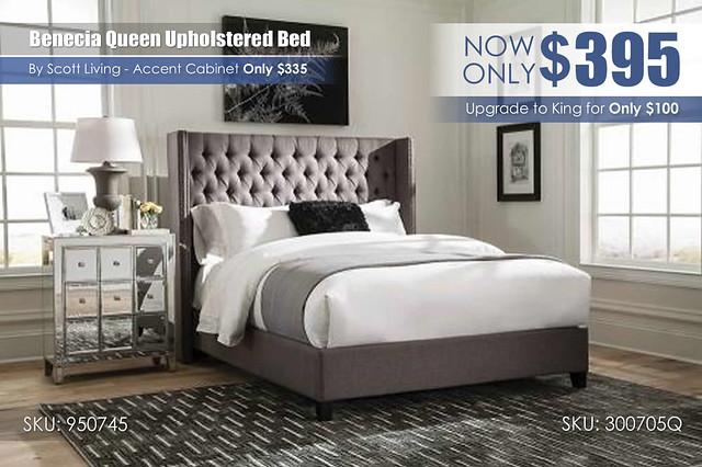 Benecia Queen Upholstered Bed Scott Living_300705Q_950745
