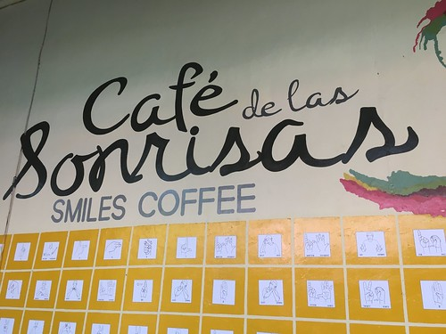 Cafe Sonrisas in Granada. From Global Citizenship Education in Nicaragua with Nobis