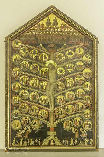 Pacino di Bonaguida's Tree of Life at the Accademia Gallery, Florence, Italy
