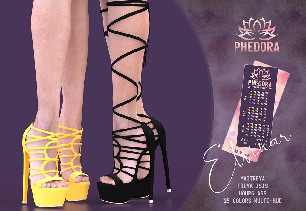 "Phedora.​ for Uber sl – ""Elvenar"" strappy heels ♥"