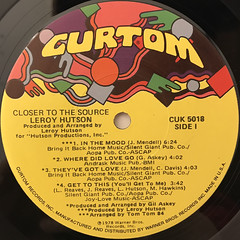 LEROY HUTSON:CLOSER TO THE SOURCE(LABEL SIDE-A)