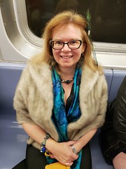 Sue Dressed Up On The Subway