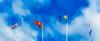Flags of the United States, Denmark, Sweden and the Netherland