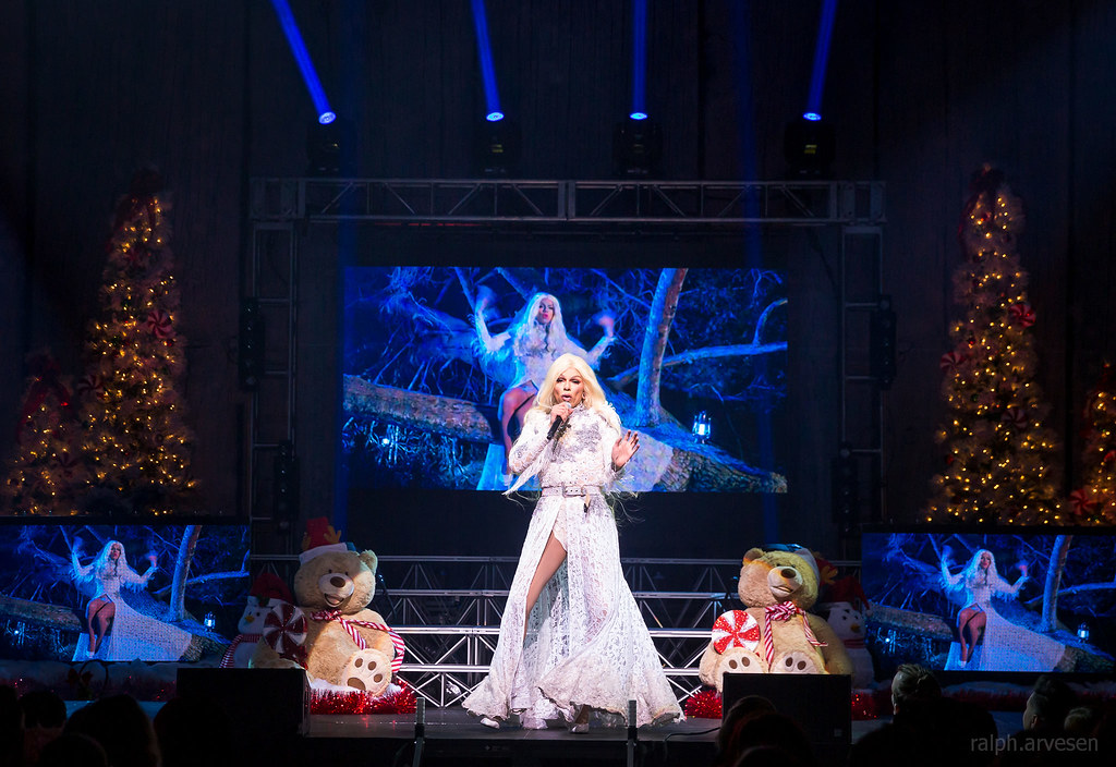 Aja Performing At A Drag Queen Christmas At The Acl Live