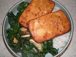 Gingered Spinach and Shiitake Mushrooms