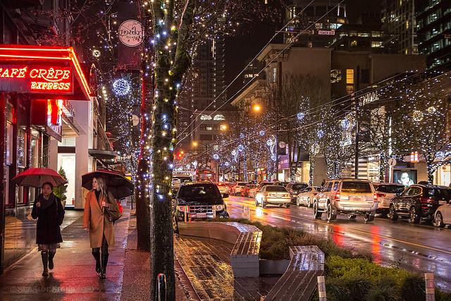 City Sidewalks 🚶♀️☔ Vancouver, BC