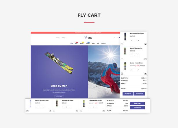 Ap Skis Prestashop Skateboard Themes - Flying ajax cart