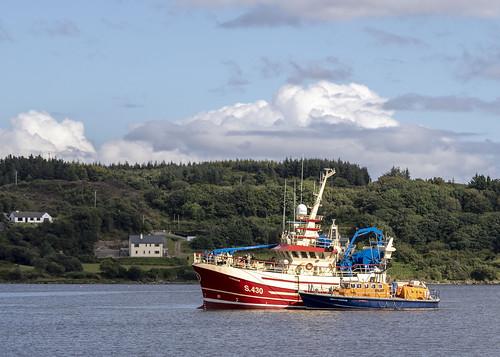 Killybegs escorted boat